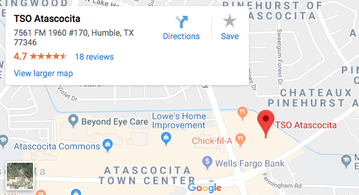 TSO Atascocita | Humble Eye Doctors & Eye Exams | Book Online on city of atascocita tx, map of sheldon ia, map of 77346, map atascocita 1960, map of kingwood neighborhoods, map kingwood humble, map of texas parks, map hockley tx, map of southern states including texas, map of west texas, map kingwood atascocita,